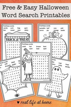 Free and Easy Halloween Word Search Printables for Kids Halloween Words, Easy Halloween, Halloween Themes, Halloween Bags, Halloween 2016, Pumpkin Coloring Pages, Fall Coloring Pages, Halloween Word Search Printables, Halloween Activities For Kids