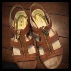 Michael Kors strapped sandal. Worn twice! Great condition! Michael Kors Shoes Sandals