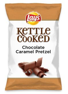 Wouldn't Chocolate Caramel Pretzel be yummy as a chip? Lay's Do Us A Flavor is back, and the search is on for the yummiest chip idea. Create one using your favorite flavors from around the country and you could win $1 million! https://www.dousaflavor.com See Rules.