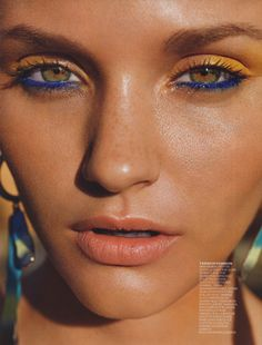 blue and yellow eye makeup