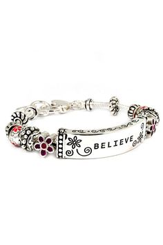 Good one for those of us in remission.  Believe Charm Bracelet on Emma Stine Limited