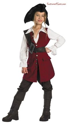 Girls 6-12 Yrs Pirate Cutie Costume Childs Caribbean Buccaneer Fancy Dress Kids