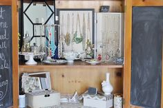 I REALLY want to do this!  Jewelry storage is so tricky and this makes your jewelry part of your decor!