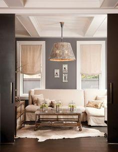 dark grey walls