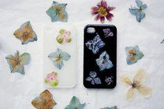 DIY flower phone case