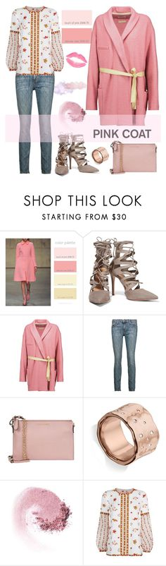 """""""Pretty in pink!"""" by joliedy ❤ liked on Polyvore featuring Schutz, Étoile Isabel Marant, Current/Elliott, Monica Vinader, NARS Cosmetics and Andrew Gn"""