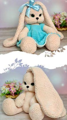 Crochet Baby Toys, Crochet Toddler, Crochet Mouse, Crochet Amigurumi Free Patterns, Crochet Animal Patterns, Crochet Doll Pattern, Crochet Bunny, Crochet Dolls, Baby Knitting