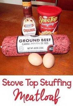 This delicious Stove Top Stuffing Meatloaf Recipe is one of my go-to dinner ideas for busy nights because it's so quick and easy. #stovetopmeatloaf