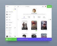 Music app public playlists light