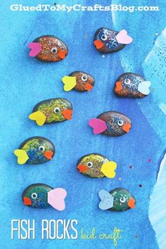 Pet Fish Rocks - Summer Themed Kid Craft Idea