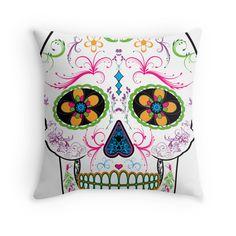 Day of the Dead Sugar Skull - Bright Multi Color