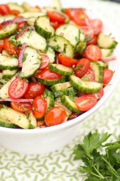 Tomato Cucumber Salad - A Southern Soul