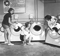 LAUNDRY~Thoroughly modern laundry room, Currier Hall, University of Iowa My Beautiful Laundrette, Folding Fitted Sheets, Mothers Day Poster, Coin Laundry, Modern Laundry Rooms, Wash Tubs, Vintage Appliances, Vintage Laundry, Life Photo