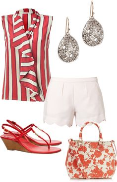 """red and white"" by shoppergurl09 ❤ liked on Polyvore"