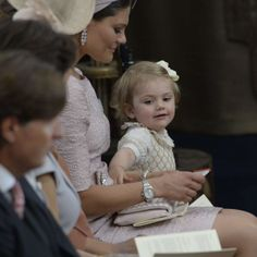Christening of Princess Leonore of Sweden June 8, 2014: Crown Princess Victoria and Princess Estelle