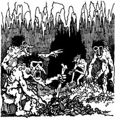 Trolls by Dave Trampier, from AD&D module G3: Hall of the Fire Giant King by Gary Gygax, TSR, 1978.