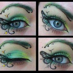*Butterfly Eye art makeup