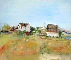 """Water Mill landscape"" by Jane Freilicher,"