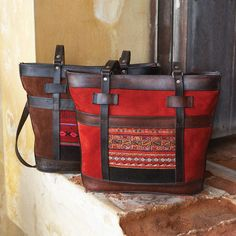 Bolivian Tapestry Suede Tote | National Geographic Store.. I love these totes!