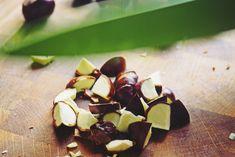 Nalewka z kasztanów - na żołądek, żylaki i bóle mięsniowe - prosty przepis - Aniamaluje - blog lifestylowy dla młodych kobiet. Healing Herbs, Chocolate, Fruit, Plants, Blog, Diet, Health, Chocolates, Blogging
