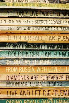 James Bond novels by Ian Fleming