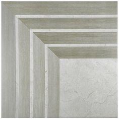 """17.75"""" X 17.75"""" Arista Jet Gris Ceramic Floor Tile"""