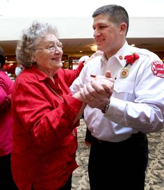 http://www.dailyherald.com/article/20140215/news/140218958/ Lillian Mastro dances with Assistant Fire Chief Jerry Howell at a Valentine's Day dance Roses are Red, Violets are Blue Sharing a Special promo #withyou!  This Valentines, a Special gift for your Special Senior…  http://www.gpssmartsole.com/ use Promo Code XO2015 and receive $20 off your purchase. #seniors #caregivers #peaceofmind #smartsoles