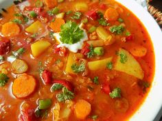Good Food, Yummy Food, Thai Red Curry, Food And Drink, Low Carb, Soup, Cooking Recipes, Vegetarian, Tasty
