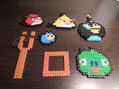 Angry Birds aus Bügelperlen  Perler Beads by Baumberger Entdecker
