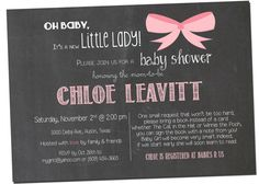 Hey, I found this really awesome Etsy listing at https://www.etsy.com/listing/163619535/chalkboard-baby-girl-shower-invitation