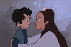 Leia and Ben . Character Drawing Illustration Animation