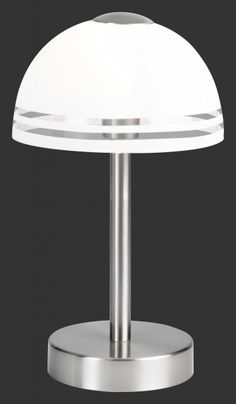 598210107 Trio - dotyková lampa - matný nikel +satén. sklo