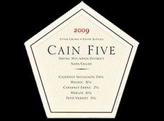 2009 Cain Vineyard & Winery Cain Five