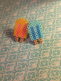 popsicle kawaii pixel perler bead ring Melt Beads Patterns, Pony Bead Patterns, Perler Patterns, Beading Patterns, Diy Perler Beads, Pearler Beads, Fuse Beads, Hama Beads Animals, Beaded Animals