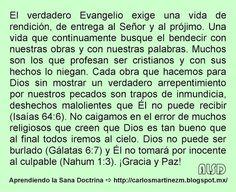 Carlos Martínez M_Aprendiendo la Sana Doctrina: EL VERDADERO EVANGELIO EXIGE UNA VIDA DE RENDICIÓN...