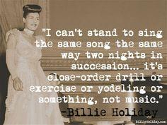 Cotizaciones de vacaciones de Billlie | El sitio web oficial de Billie Holiday Billie Holiday, Jazz, Lady Sings The Blues, You Rock My World, Vintage Black Glamour, Old School Music, Gone Girl, Social Media Pages, Love Is Sweet