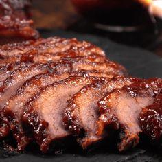 Oven-Barbecued Beef Brisket slices
