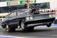1969 Chevrolet Chevelle race car wheels up 1969 Chevelle, Chevrolet Chevelle, Camaro Ss, Chevy Luv, Drag Bike, Chevy Muscle Cars, Drag Cars, Car Wheels, American Muscle Cars