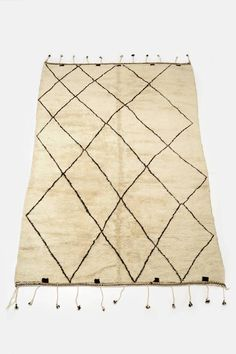 Collected by The Line — Large Modern Moroccan Beni Ourain Rug — THE LINE