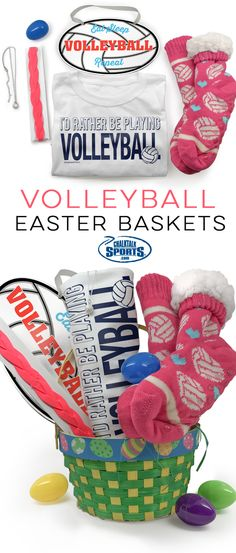 Every cheerleader will cheer for this all new for 2016 easter an amazing easter is in your future when your surprise your volleyball player with one of our exclusive chalktalksports easter baskets negle Choice Image