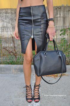 #fashion#zara#leather#skirt
