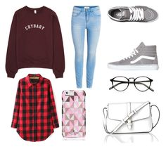 """casual saturday!"" by auliaarist on Polyvore featuring Vans, Kate Spade and L.K.Bennett"