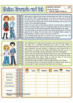 Lesetest mit 5 Aufgaben- Tabelle ausüllen- Richtig oder falsch? + Korrektur- Fragen beantworten- Fragen bilden- Adjektivendungen einsetzenUmfang: 2 Seitendazu gibt es einen 2.Test + 2 Leseübungen- Leseübung_1:http://de.islcollective.com/worksheets/worksheet_page?id=33779- Leseübung_2:http://de.islcollective.com/worksheets/worksheet_page?id=33780- 2.Lesetest:http://de.islcollective.com/worksheets/worksheet_page?id=33781...