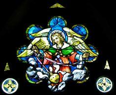 Annunciation RC Church  257 Lafayette Avenue, Buffalo, NY  Angel with censure window