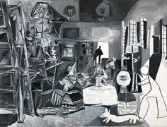 Las Meninas, (after Diego Velázquez) - Pablo Picasso (Spanish, - Oil on canvas. Was Amazing to have seen the original at the prado then Picasso version while in Barcelona. Pablo Picasso, Kunst Picasso, Art Picasso, Picasso Paintings, Infanta Margarita, Francoise Gilot, Diego Velazquez, Cubist Movement, Francisco Goya