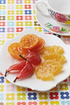Glacé fruit makes a delicious snack, either served alone as a confection or used for decorating other sweet treats!