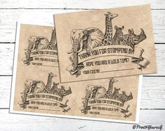This item is unavailable Party Printables, Thank You Cards, Safari, Vintage World Maps, Fonts, Old Things, Layout, Invitations