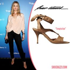Rosie Huntington-Whiteley in Brian Atwood Temptation Sandals