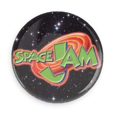 Nostalgia overload! Space Jam is the pinnacle of Michael Jordan's Career. Each pin back button measures approximately 1.5 inches in diameter and has a metal back with pin.