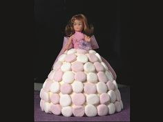 This iconic children's birthday cake was inspired by the character, Dolly, in one of Charles Dickens' novels. She's since gone on to influence fashion, fish (one is named after her), a cake pan (in the shape of her dress) and all manner of embroideries...what a girl she must have been!